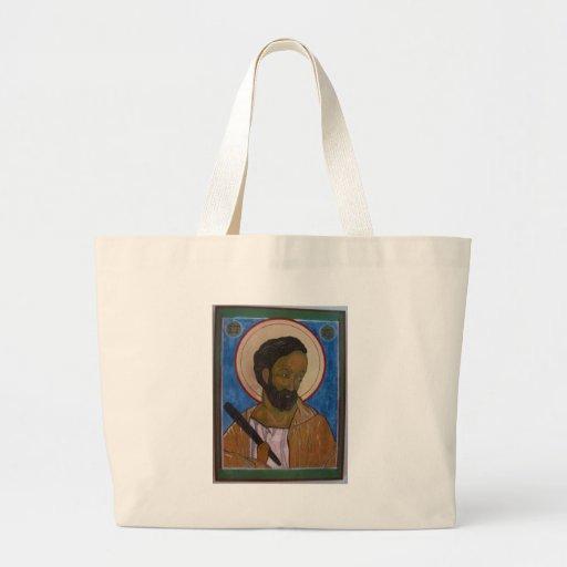 Saint Jude Icon Tote Bags