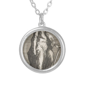Saint Jude (or Saint Matthias) Silver Plated Necklace