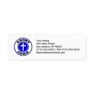 Saint Jude Return Address Label