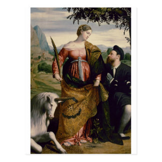 Saint Justina with the Unicorn Postcard