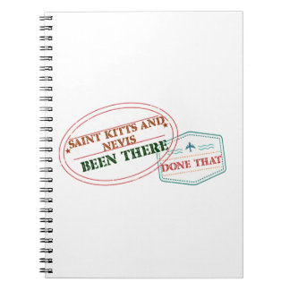 Saint Kitts and Nevis Been There Done That Note Book