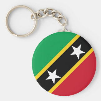 Saint Kitts and Nevis Flag Basic Round Button Keychain