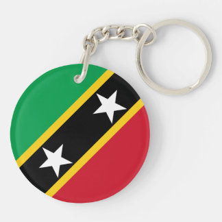 Saint Kitts and Nevis Flag Double-Sided Round Acrylic Keychain