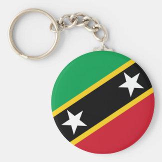 Saint Kitts and Nevis Flag Keychain