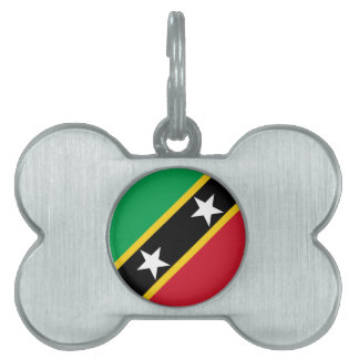Saint Kitts and Nevis Flag Pet Name Tags