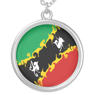 Saint Kitts and Nevis Gnarly Flag Pendants