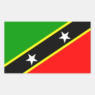 Saint Kitts Nevis Flag Sticker