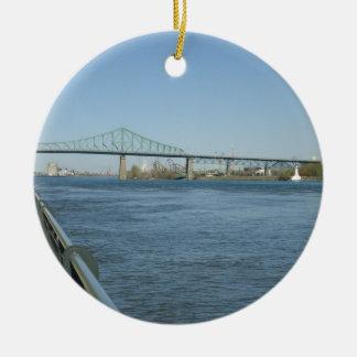 Saint Laurent River, Montreal Ceramic Ornament