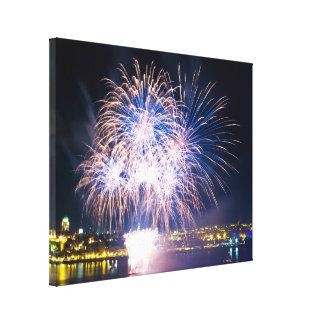 Saint-Lawrence River | Bright Fireworks Canvas Print