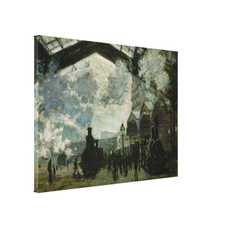 Saint Lazare Station by Claude Monet Canvas Print