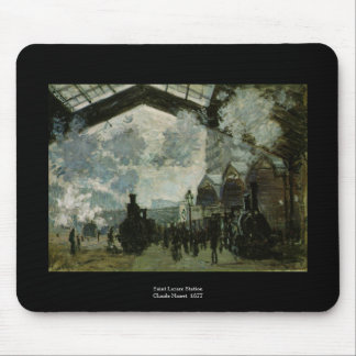 Saint Lazare Station by Claude Monet Mouse Pad