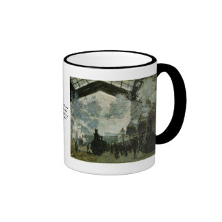 Saint Lazare Station by Claude Monet Ringer Coffee Mug