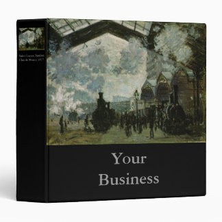 Saint Lazare Station by Claude Monet Vinyl Binders