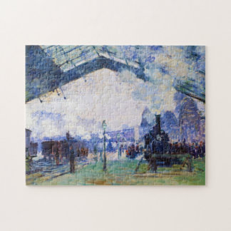Saint-Lazare Station, Normandy Train, Claude Monet Jigsaw Puzzle