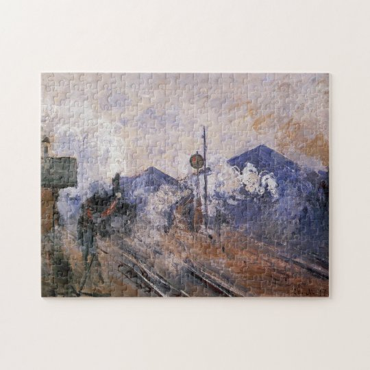 Saint-Lazare Station Train Coming Out Monet Fine Jigsaw Puzzle