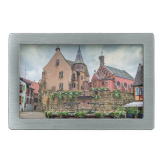 Saint-Leon fountain in Eguisheim, Alsace, France Belt Buckles