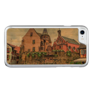 Saint-Leon fountain in Eguisheim, Alsace, France Carved iPhone 8/7 Case