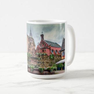 Saint-Leon fountain in Eguisheim, Alsace, France Coffee Mug