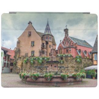 Saint-Leon fountain in Eguisheim, Alsace, France iPad Cover
