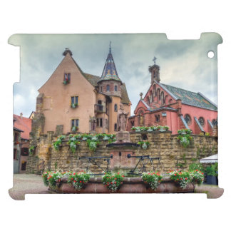 Saint-Leon fountain in Eguisheim, Alsace, France iPad Covers