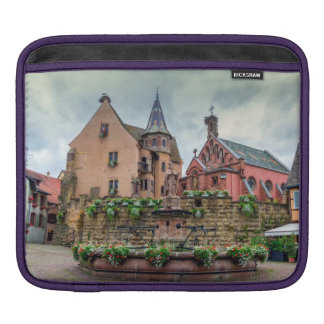 Saint-Leon fountain in Eguisheim, Alsace, France iPad Sleeve