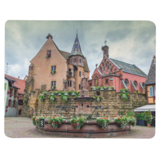 Saint-Leon fountain in Eguisheim, Alsace, France Journals