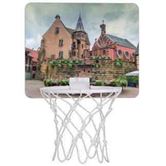 Saint-Leon fountain in Eguisheim, Alsace, France Mini Basketball Backboard