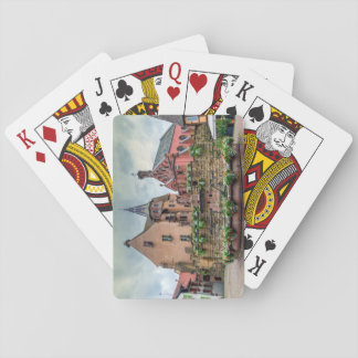 Saint-Leon fountain in Eguisheim, Alsace, France Playing Cards