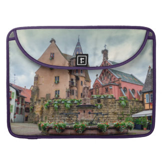 Saint-Leon fountain in Eguisheim, Alsace, France Sleeve For MacBook Pro