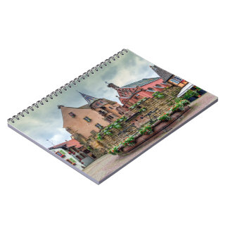Saint-Leon fountain in Eguisheim, Alsace, France Spiral Notebook
