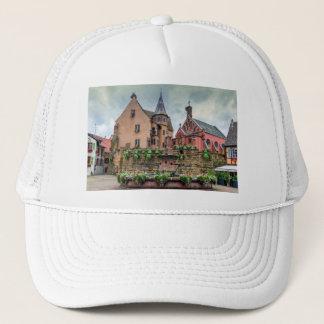 Saint-Leon fountain in Eguisheim, Alsace, France Trucker Hat