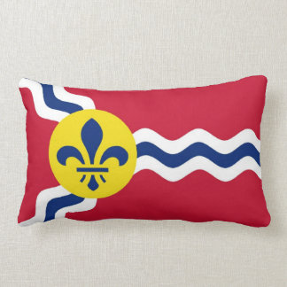 Saint Louis flag Lumbar Pillow