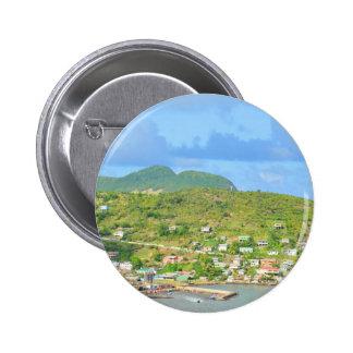 Saint Lucia 2 Inch Round Button