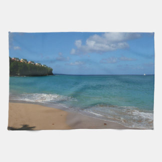 Saint Lucia Beach Tropical Vacation Landscape Kitchen Towel