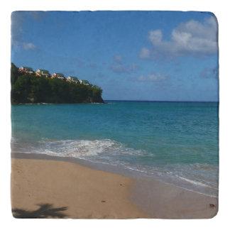 Saint Lucia Beach Tropical Vacation Landscape Trivet
