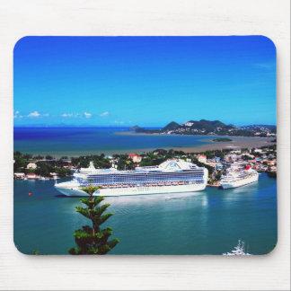 Saint Lucia, cruise ship Mouse Pad