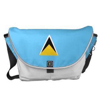 Saint Lucia Flag Commuter Bag