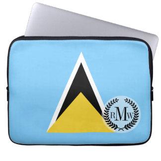 Saint Lucia Flag Computer Sleeves