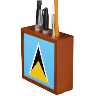 Saint Lucia Flag Desk Organizer