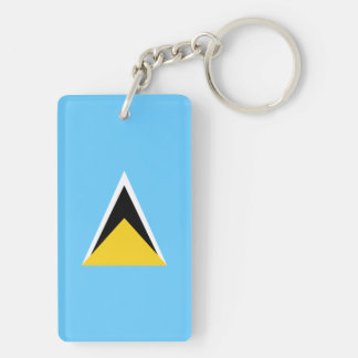 Saint Lucia Flag Double-Sided Rectangular Acrylic Keychain