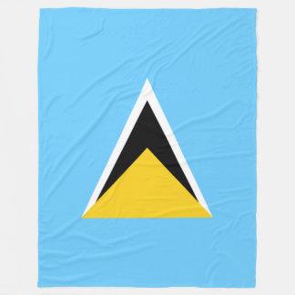 Saint Lucia Flag Fleece Blanket