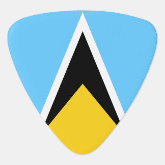 Saint Lucia Flag Guitar Pick