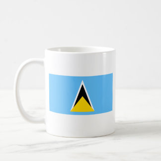 Saint Lucia Flag ~ Map Mug