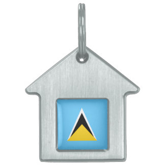 Saint Lucia Flag Pet ID Tags