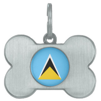 Saint Lucia Flag Pet Name Tags