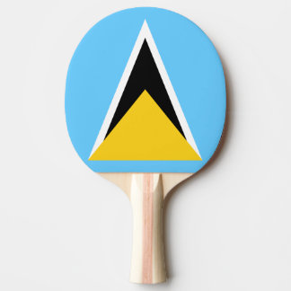 Saint Lucia Flag Ping Pong Paddle