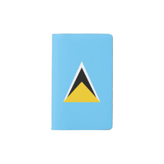 Saint Lucia Flag Pocket Moleskine Notebook