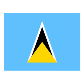 Saint Lucia Flag Postcard