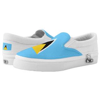 Saint Lucia Flag Slip-On Sneakers