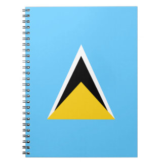 Saint Lucia Flag Spiral Note Books